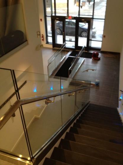 Commercial Glass Stair rail opp